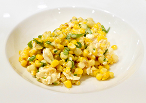 recipe for healthy Mexican Street Corn from Dr. Gourmet