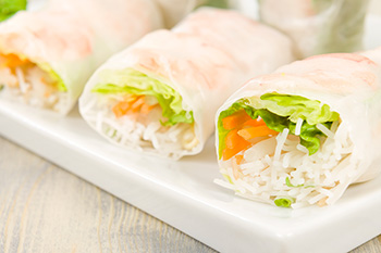 Thai summer rolls, with cellophane noodles