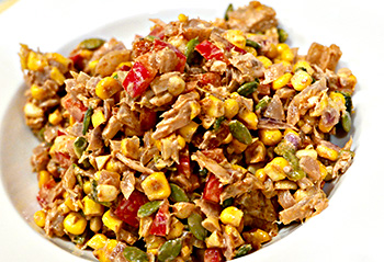 Southwest Tuna and Corn Salad recipe from Dr. Gourmet