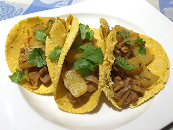 Healthy Tacos al Pastor recipe from Dr. Gourmet