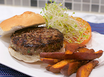 Teriyaki Burger recipe from Dr. Gourmet