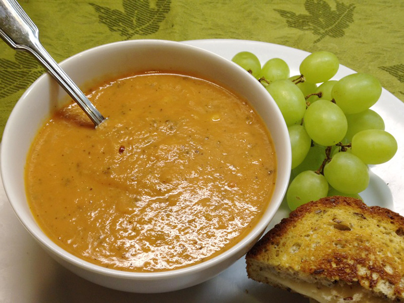 Tomato Basil Soup with White Beans recipe from Dr. Gourmet