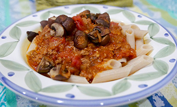 Pasta with Tomato Caraway Sauce recipe from Dr. Gourmet