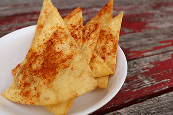 Baked Tortilla Chips recipe from Dr. Gourmet