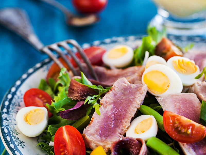 Tuna Nicoise Salad recipe from Dr. Gourmet