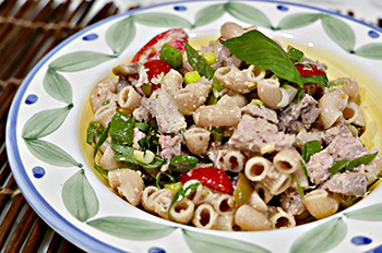 Tuna and Olive Pasta Salad recipe from Dr. Gourmet