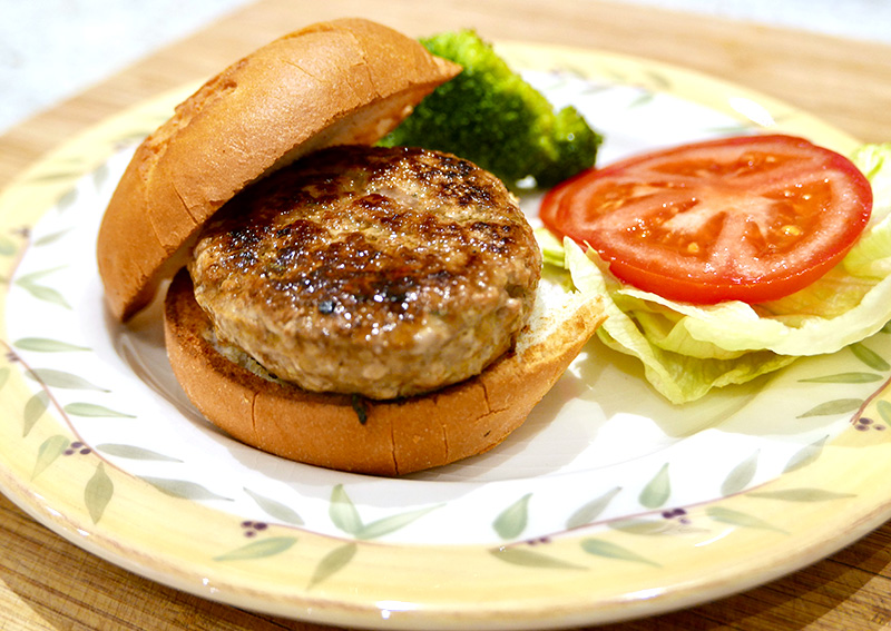 Easy healthy turkey burgers from Dr. Gourmet