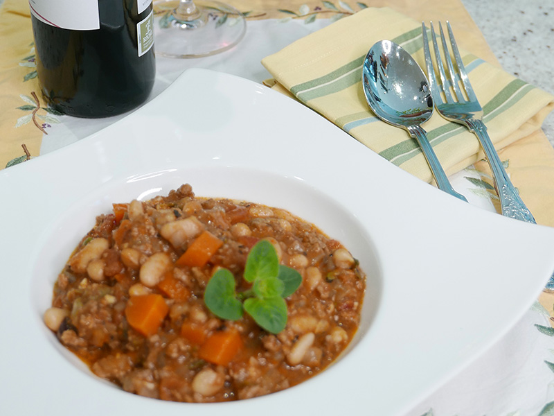 Tuscan White Bean Chili recipe from Dr. Gourmet