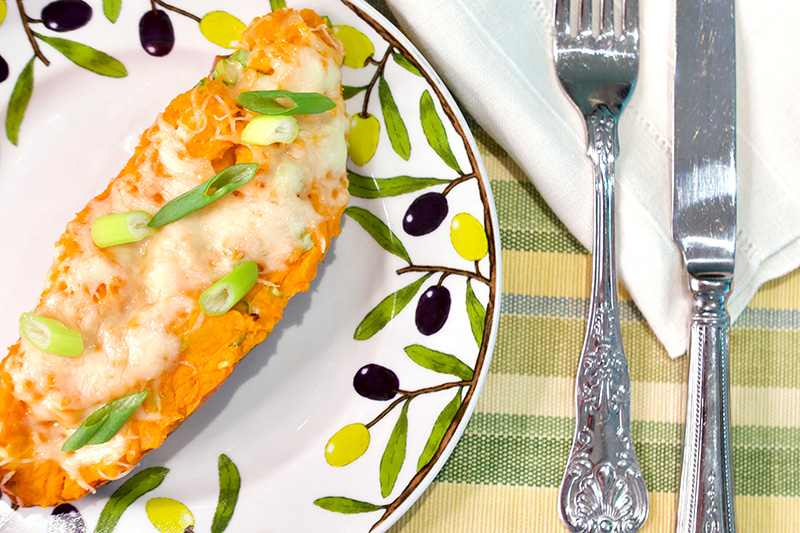 Twice Baked Yams recipe from Dr. Gourmet - click for the recipe!