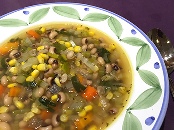 Vegetable Soup with Black Eyed Peas recipe by Dr. Gourmet