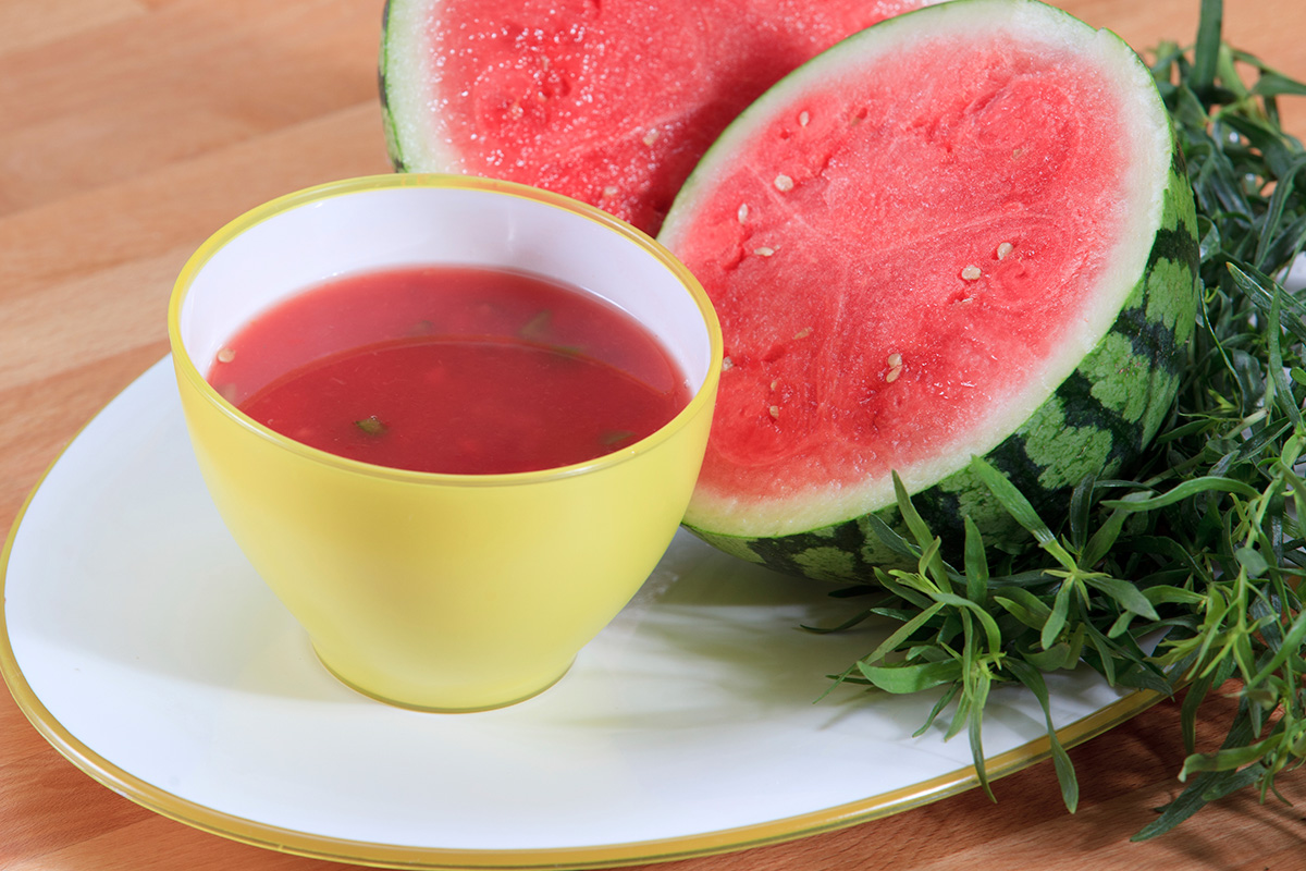 Chilled Watermelon Soup recipe from Dr. Gourmet