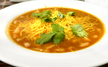 White Bean Chili recipe from Dr. Gourmet