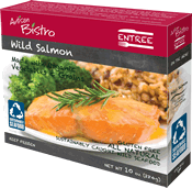 Dr. Gourmet reviews the Wild Salmon entree from Artisan Bistro.