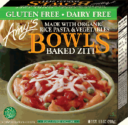 Dr. Gourmet reviews Amy's Baked Ziti Bowl, which is gluten-free and dairy-free