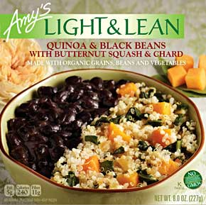Amy's Quinoa & Black Beans with Butternut Squash & Chard Review b...