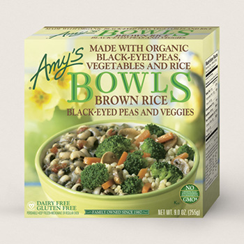 Dr. Gourmet reviews the Brown Rice, Black-Eyed Peas and Veggies Bowl from Amy's Kitchen