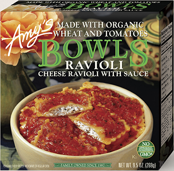 the Dr. Gourmet tasting panel reviews the Cheese Ravioli Bowl from Amy's