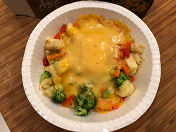 the Country Cheddar Bowl from Amy's, as cooked