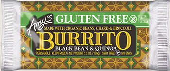 Dr. Gourmet reviews the Gluten Free Black bEan and Quinoa Burrito from Amy's Kitchen
