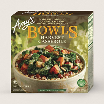Dr. Gourmet reviews the Harvest Casserole Bowl from Amy's Kitchen