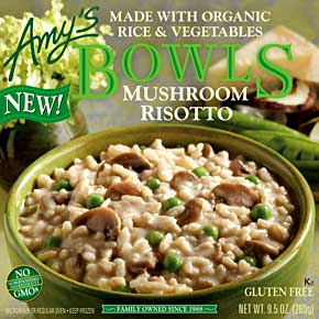 Amy's Foods Mushroom Risotto Bowl Review by Dr. Gourmet