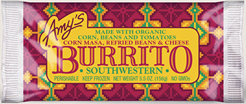 The Dr. Gourmet tasting panel reviews the Southwestern Burrito from Amy's Kitchen