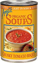 Amy's Light in Sodium Chunky Tomato Bisque Review by Dr. Gourmet