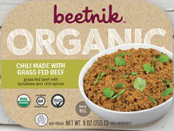 Beetnik Foods Organic Chili Made with Grass Fed Beef reviewed by Dr. Gourmet