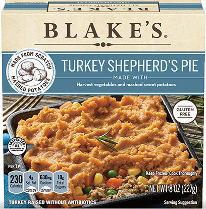Dr. Gourmet's team reviews the gluten-free Turkey Shepherd's Pie from Blake's All Natural Foods