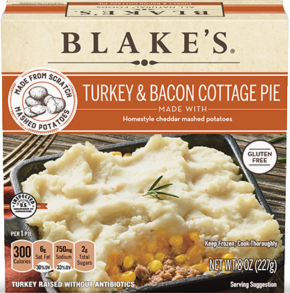 Dr. Gourmet reviews the Turkey & Uncured Bacon Cottage Pie from Blake's All Natural Foods