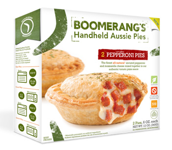 Dr. Gourmet reviews the Pepperoni Pie from Boomerang's Aussie Inspired Pies