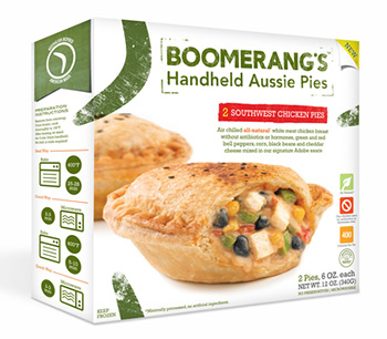 Dr. Gourmet reviews the Southwest Chicken Pie from Boomerang's Aussie Inspired Pies