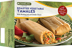 Dr. Gourmet reviews Roasted Vegetable Tamales from CedarLane Natural Foods