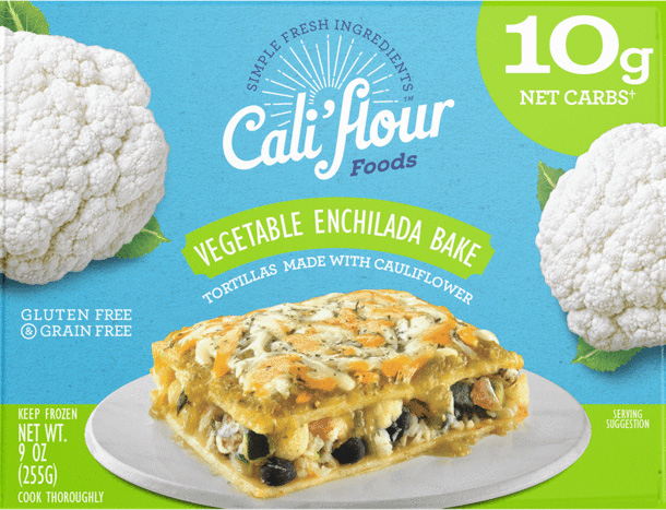 the Vegetable Enchilada Bake from Cali'flour Foods