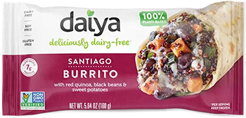 the Santiago Burrito from Daiya Food