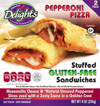 Uncured Pepperoni Delights Gluten-Free Stuffed Sandwiches reviewed by Dr. Gourmet