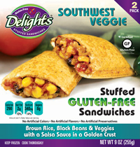 Southwest Veggie Delights Gluten-Free Stuffed Sandwiches reviewed by Dr. Gourmet