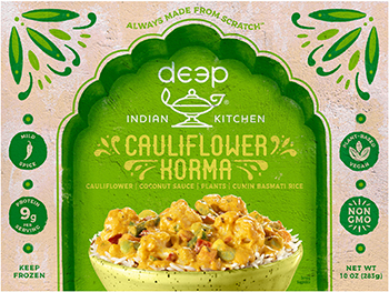 Timothy Harlan, MD, reviews the Cauliflower Korma from Deep Indian Kitchen