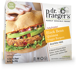 Dr. Gourmet reviews the Black Bean Quinoa Veggie Burger from Dr. Praeger's Purely Sensible Foods