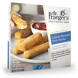 Dr. Gourmet reviews Lightly Breaded Fish Sticks from Dr. Praeger's Sensible Foods