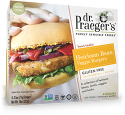 Dr. Gourmet reviews the Heirloom Bean Veggie Burger from Dr. Praeger's Purely Sensible Foods