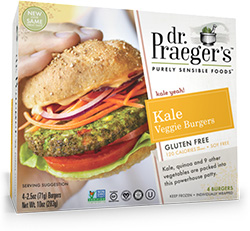 Dr. Gourmet reviews the Kale Veggie Burger from Dr. Praeger's Purely Sensible Foods