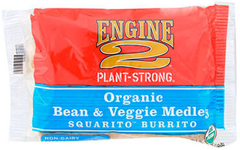 the Dr. Gourmet tasting panel reviews the Organic Bean & Veggie Medley Squarito Burrito from Engine 2 Foods