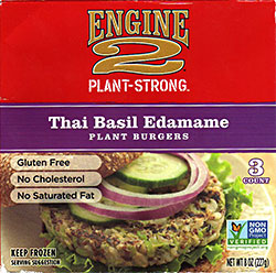 Review by Dr. Gourmet of Engine 2 Foods Thai Basil Edamame Plant Burger