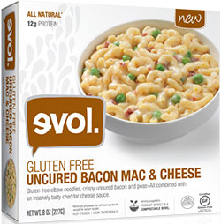 evol Foods Uncured Bacon Mac & Cheese Review by Dr. Gourmet