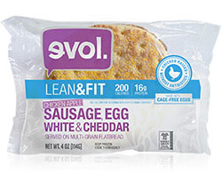 Dr. Gourmet reviews the Sausage, Egg White & Cheddar breakfast sandwich from evol Foods