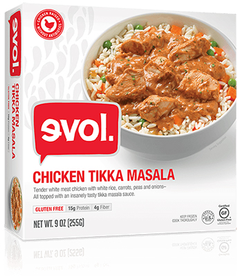 the Dr. Gourmet tasting panel reviews the Chicken Tikka Masala from evol Foods