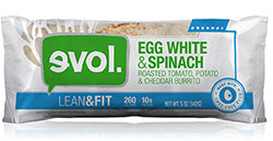 Dr. Gourmet reviews the Egg White & Spinach Breakfast Burrito from evol Foods