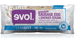 Dr. Gourmet Reviews the Sausage, Egg & Smoked Gouda Breakfast Burrito from evol Foods