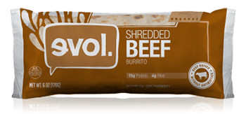 Dr. Gourmet reviews the Shredded Beef Burrito from evol Foods